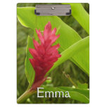 Red Ginger Flower I Tropical Nature Clipboard