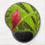 Red Ginger Flower I Tropical Nature Gel Mouse Pad