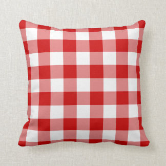 Red Gingham American MoJo Pillow