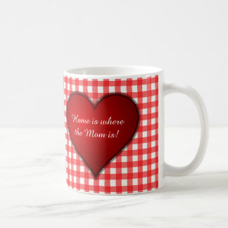 Red Gingham and Hearts Mother's Day Coffee Mug