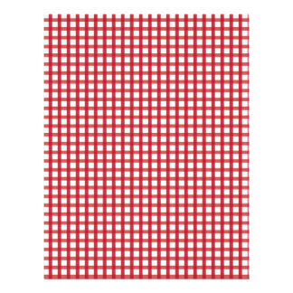 Red Gingham Baby Scrapbook Paper Letterhead