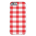 Red Gingham Barely There iPhone 6 Case