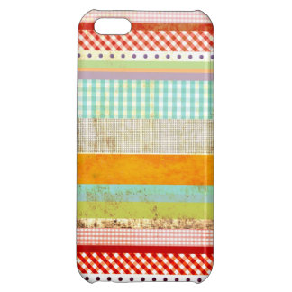 Red Gingham Blue Gingham Striped iPhone 5C Cover