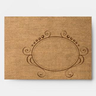 Red Gingham & Burlap Mason Jar Wedding Envelopes