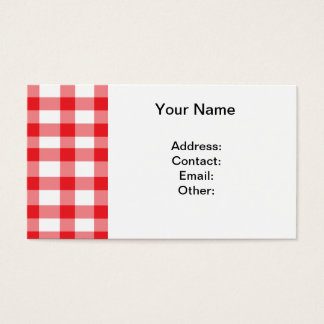 Red Gingham Business Card
