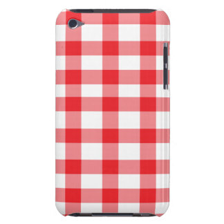 Red Gingham Barely There iPod Cases