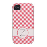 Red Gingham Case-Mate iPhone 4 Covers