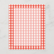 Red Gingham Check Pattern