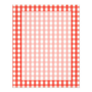 Red Gingham Check Pattern Flyer
