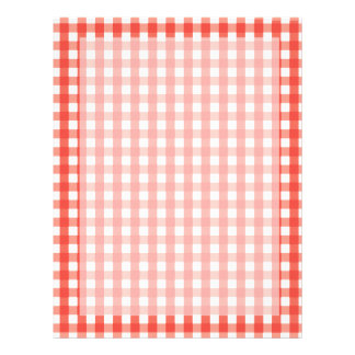 Red Gingham Check Pattern Letterhead