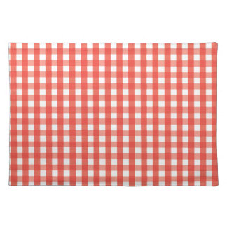 Red Gingham Check Pattern Placemat
