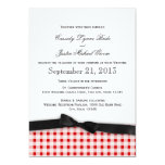 Red Gingham Check Pattern with Ribbon Cards
