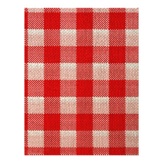 Red Gingham Checkered Pattern Burlap Look Flyer