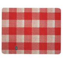 Red Gingham Checkered Pattern Burlap Look Journal