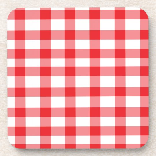 Red Gingham Coaster