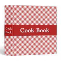 Red Gingham Cook Book Binder