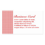 Red Gingham + Custom Color Business Card Template