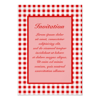 Red Gingham + Custom Color Card