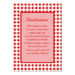 Red Gingham + Custom Color 5x7 Paper Invitation Card