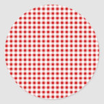 Red Gingham + Custom Color Sticker