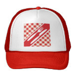 Red Gingham & Cutlery Hat