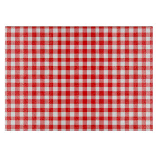Red Gingham Cutting Board
