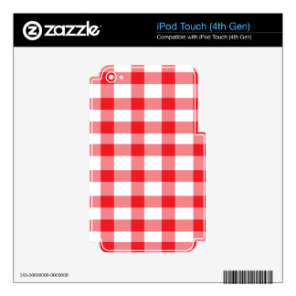 Red Gingham Decal For iPod Touch 4G