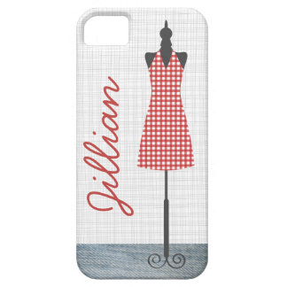Red Gingham Dress Form iPhone 5 Case