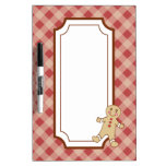 Red Gingham Dry Erase Board