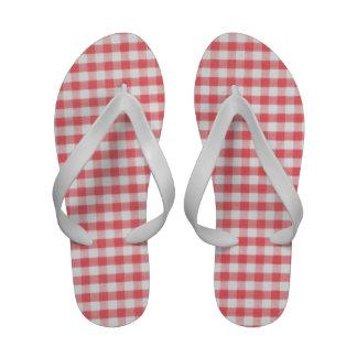 Red Gingham Flip-Flops