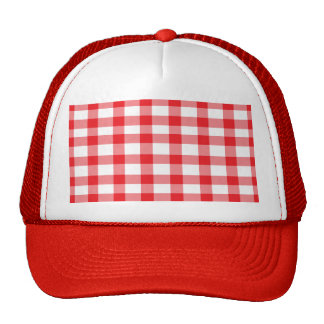 Red Gingham Trucker Hat