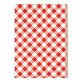 Red Gingham 5x7 Paper Invitation Card