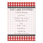 Red Gingham Invitation