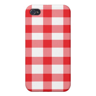 Red Gingham Case For iPhone 4