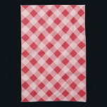 """Red Gingham Kitchen Towel<br><div class=""""desc"""">A classic red gingham pattern decorates this stylish kitchen towel. The design is from original art.</div>"""