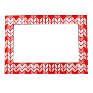 """Red Gingham Knit 5"""" x 7"""" Magnetic Frame"""