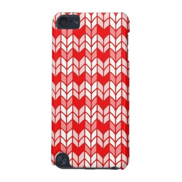 Red Gingham Knit ipod Touch 3G Case