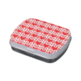 Red Gingham Knit Jelly Belly Candy Tin