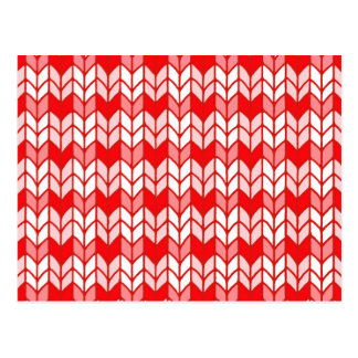 Red Gingham Knit Postcard