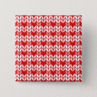 Red Gingham Knit Square Button