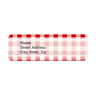 Red Gingham Labels