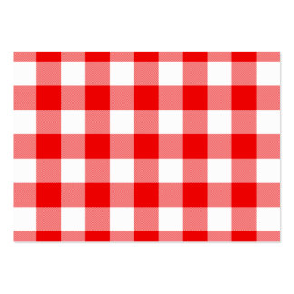 Red Gingham Large Business Card