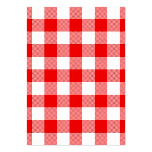 Red Gingham Large Business Cards (Pack Of 100)