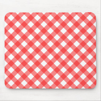 Red Gingham Mousepad