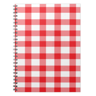 Red Gingham Spiral Notebook