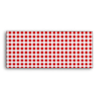 Red Gingham Pattern #10 Window Envelopes