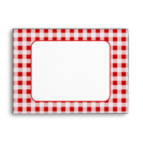 Red Gingham Pattern A7 Envelopes