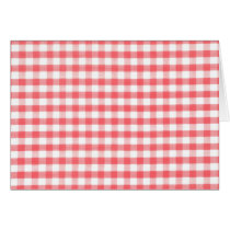 Red Gingham Pattern Card