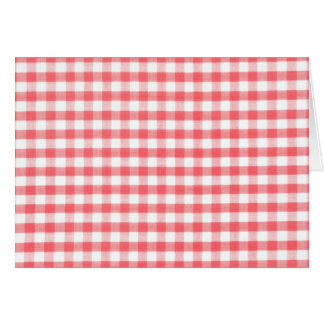 Red Gingham Pattern Cards