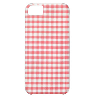 Red Gingham Pattern iPhone 5C Cases